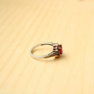 Sterling & 10KT Gold Ring | Size 7