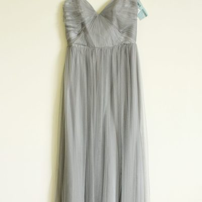 NEW AV Maids Grey Tulle Sleeveless Dress | Size L