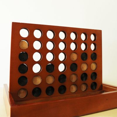 Pavilion Four To Win Wood Game Board & Base Complete Set