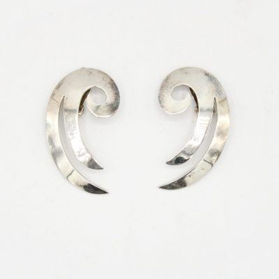 Mexico Sterling Silver Clip Earrings