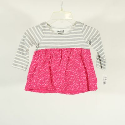 Jumping Beans Pink & Grey Patterned Top   Size 18M
