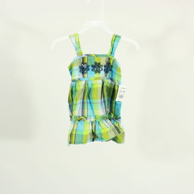 Koala Kids Green & Blue Plaid Dress | Size 18M