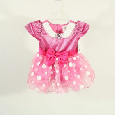 Disney Baby Pink Polka Dotted Minnie Dress | Size18-24M