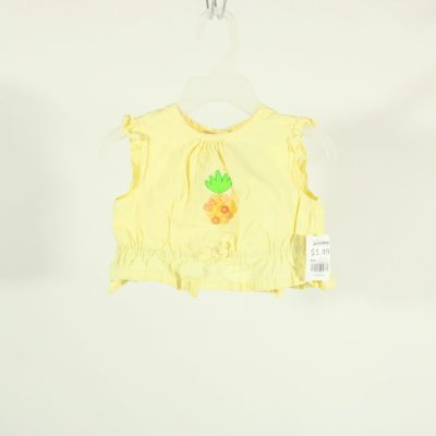 Organically Grown Kids Button Pineapple Shirt | Size 18M