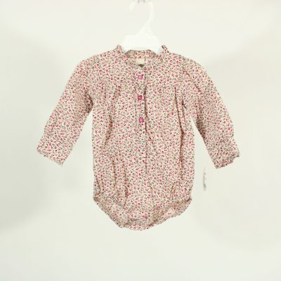 Osh Kosh B'gosh Floral Button Up Onesie | Size 12M