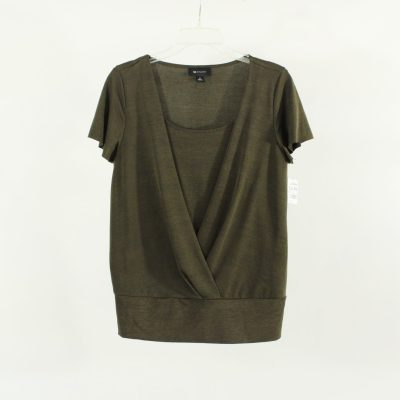 AB Studio Olive Green Top | Size S