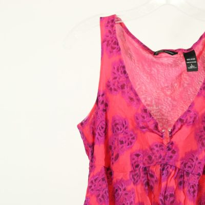 New York & Co. Pink Flowered Top | Size L