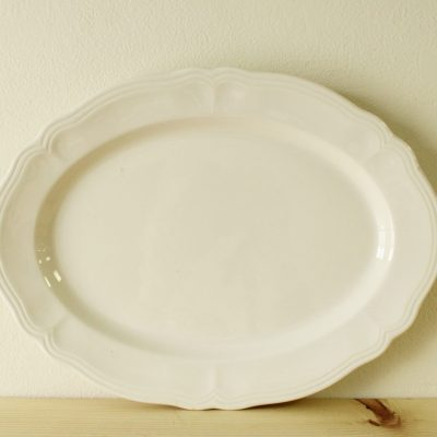 Federalist Ironstone White Oval Serving Tray 4238