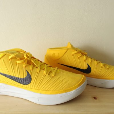 NEW Nike Kobe A.D. Promo TB University Yellow Suede Finish Embroidered Swoosh Basketball Sneakers | Size Mens US 16