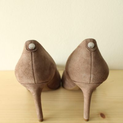 Michael Kors Taupe Suede Pointed Toe Heels | Size 8