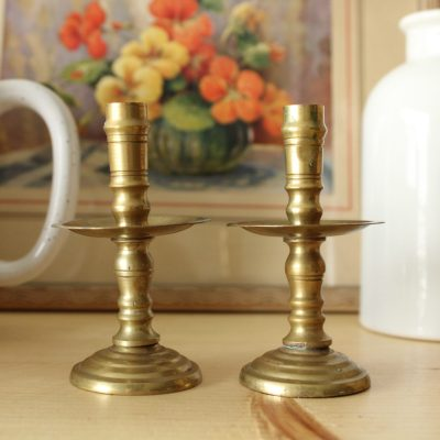 Brass Miniature Taper Candle Holders