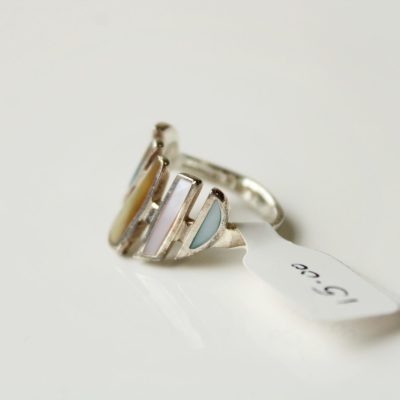 Pastel Colored Abalone LG Thailand Ring | Size 6