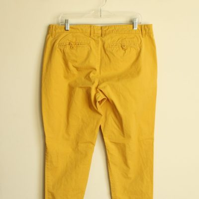 G.H. Bass & Co. Yellow Cotton Pants | Size 12