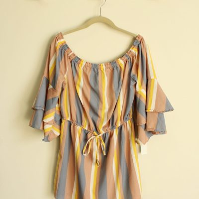 Blush Striped Dress | Size L
