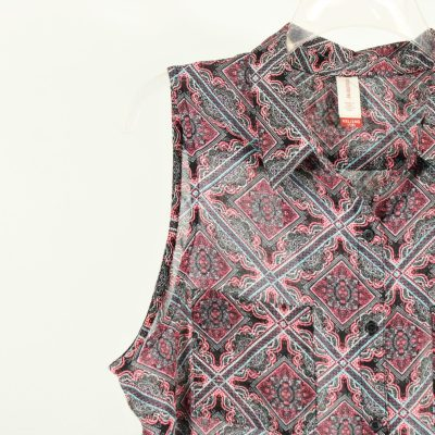 No Boundaries Pink Patterned Top   Size XXL