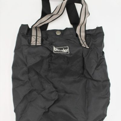 Traveler Black Packable Tote Bag
