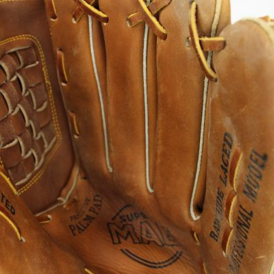 Super Mag Rawhide Laced Leather Baseball Glove | Adult Size