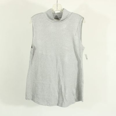 Croft & Barrow Light Gray Mock Neck Knit Top | Size L