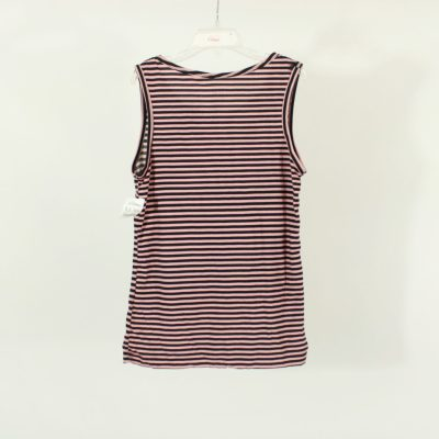 One Step Up Black & Pink Striped Tank | Size 10-12