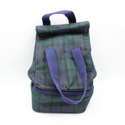 Vintage Lands' End Plaid Lunch Bag