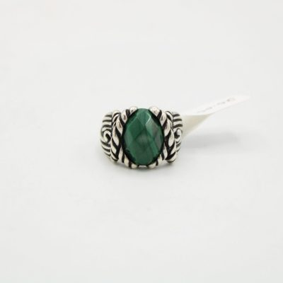 Carolyn Pollack Sterling Silver Green Stone Ring | Size 6