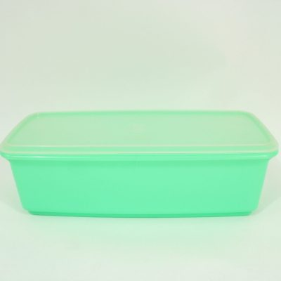 Vintage Tupperware Blue Green Container | 6X14X5