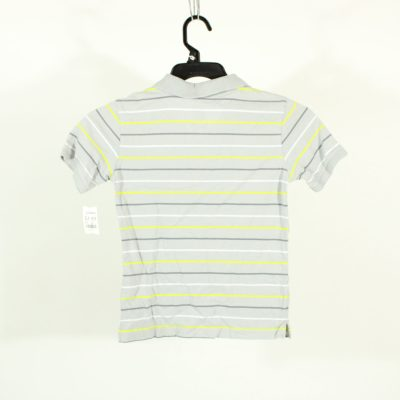 Faded Glory Grey Striped Polo Shirt | Size 8