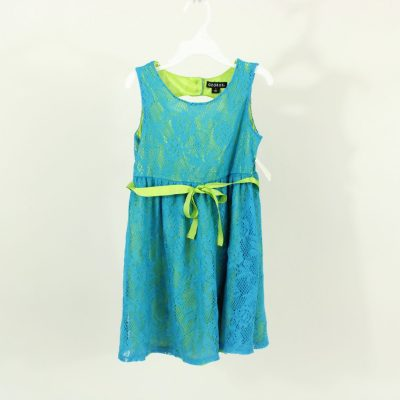 George Blue & Lime Green Dress | Size 7