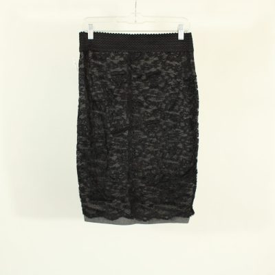 Maurices Black Lace Pencil Skirt | Size S