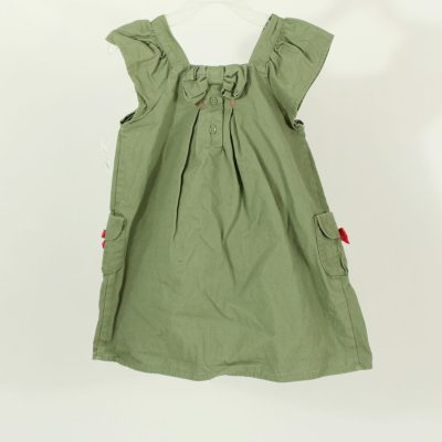 Gymboree Olive Green Embroidered Dress | Size 5T