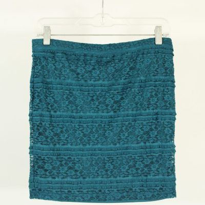Forever 21 Teal Lace Skirt | Size S