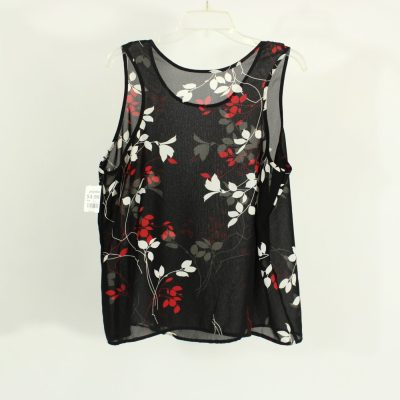 Petra Fashions Polyester Black & Red Top | Size 1X