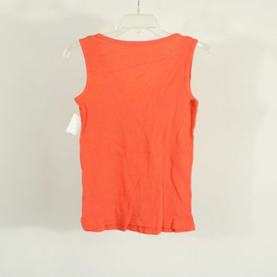 Grip Active Girls Coral Orange Ribbed Tank Top | Size L