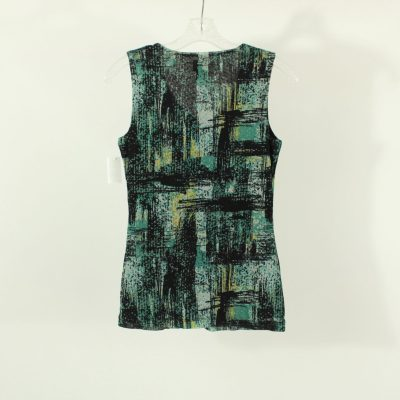 212 Collection Green & Black Top | Size XS