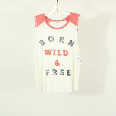 About A Girl Born Wild & Free Top | Size S