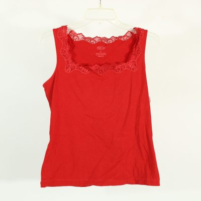 Talbots Red Lace Cami Tank Top | Size M