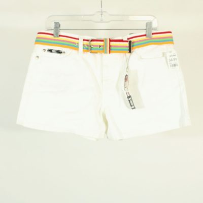NEW Vintage l.e.i Denim White Shorts / Belt | Size 11
