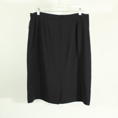 Covington Black Polyester Skirt | Size 14