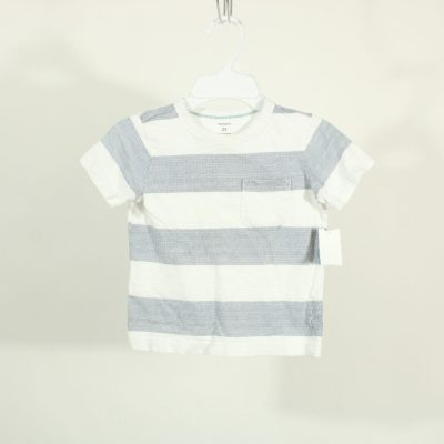 Carter's Blue & White Striped Shirt | Size 2T