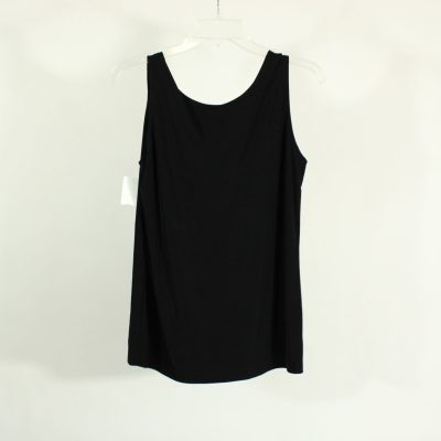 Black Silky Material Tank | Size L
