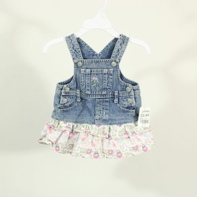 Faded Glory Denim Dress | Size 3-6 Months