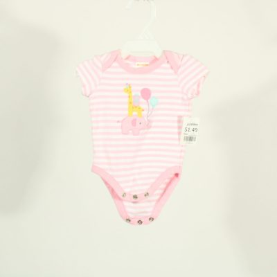 Gymboree Pink Striped Onesie | Size Newborn