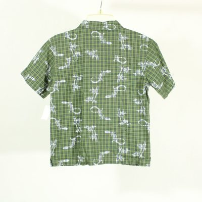 Faded Glory Green Plaid Button Down Shirt | Size 7