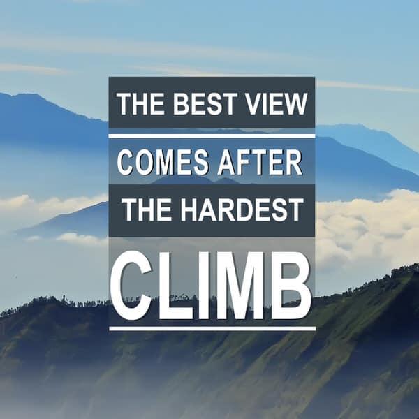 follow through+best+view+hardest+climb