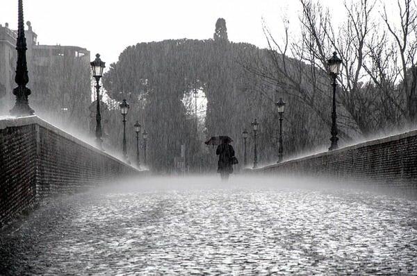 SAD and menopause+rain-on-bridge