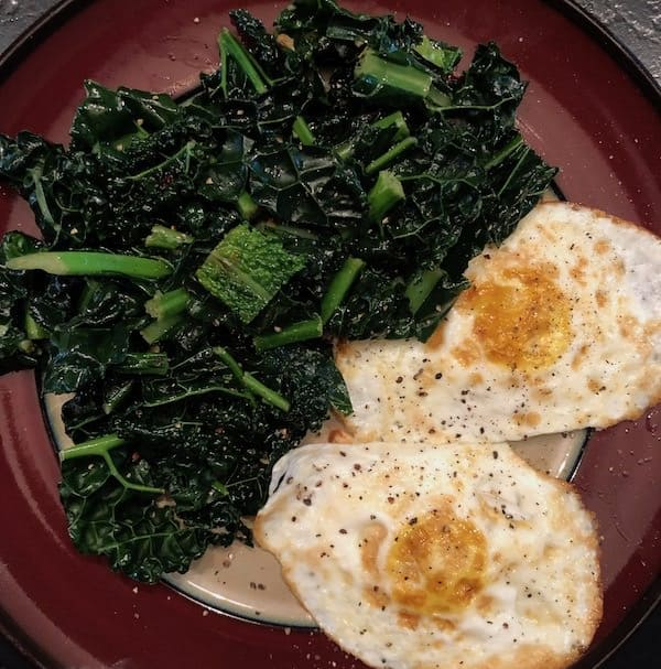 my experience with the Wahls Protocol+fried-eggs-kale