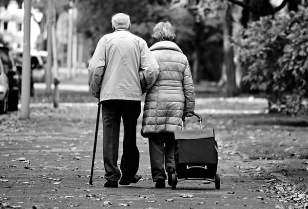 keys to aging in place+elderly-couple-walking