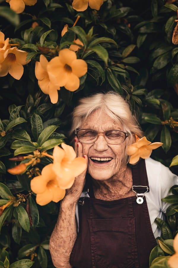 healthy aging fact or fiction+happy-older-lady