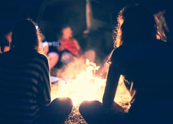 tiny house communities+campfire