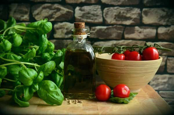 prepare your kitchen to age in place+tomatoes-basil-olive-oil